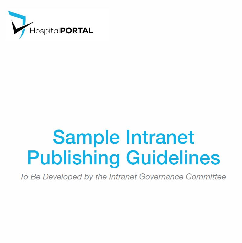 Intranet Publishing Guide Cover