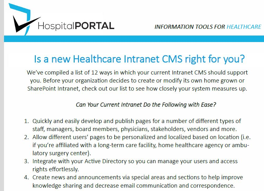 Is a NEW Healthcare Intranet CMS Right for You