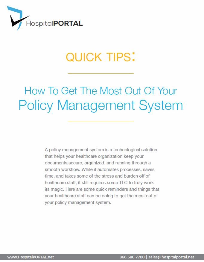 Getting the Most Out of Your Healthcare Policy Management System