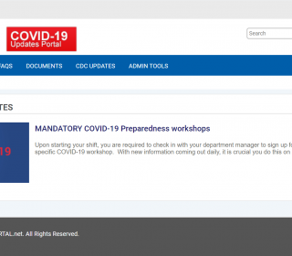 Share COVID19 updates and announcements securely